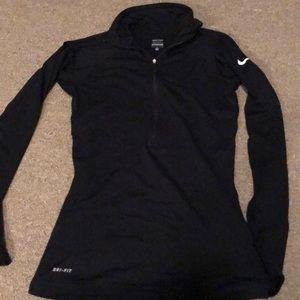 Long sleeve Nike pro half zip with thumb holes